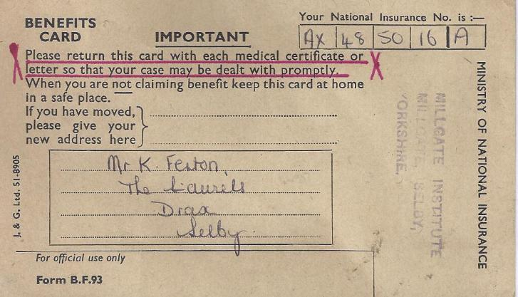 Benefits card