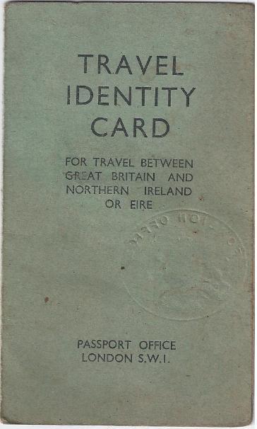 Travel identity card 1