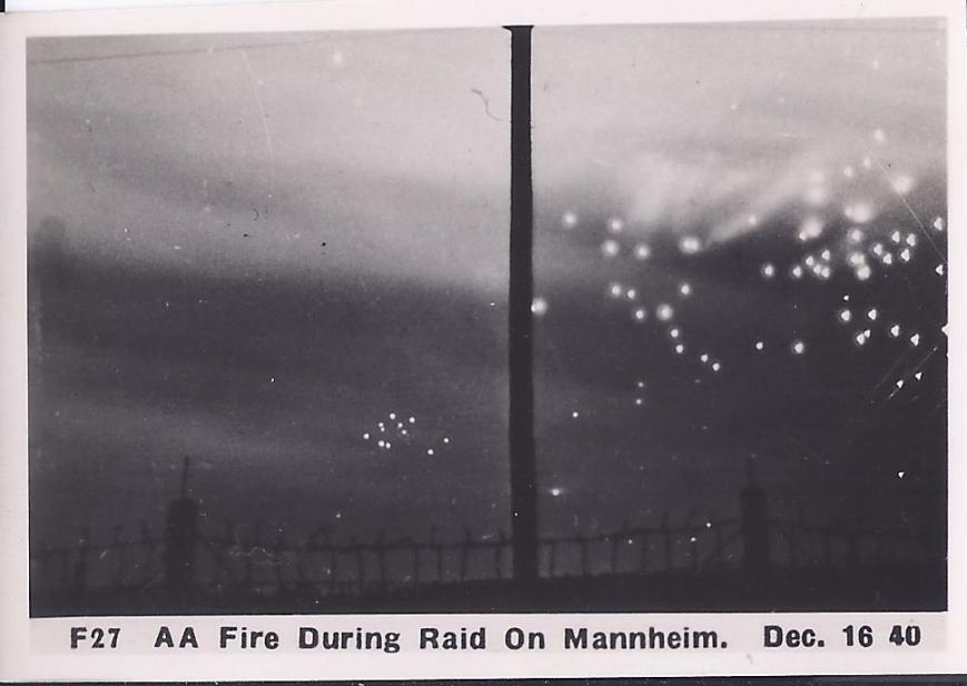 AA Fire During raid on Mannheim Dec 16 1940