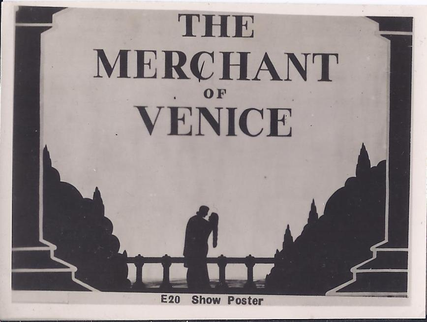 Merchant of Venice SL 3 April 43 Show poster E20